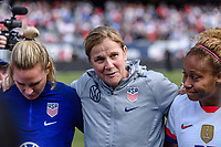 CHICAGO, IL - OCTOBER 06: Jill Ellis of the United States during a game between the USA and Korea Republic at Soldier Field, on October 06, 2019 in Chicago, IL.