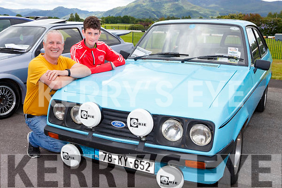 Dan and william Casey Rathmore with their Ford Escort Mark 2s 2000 at the Killarney Vintage rally on Sunday