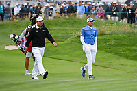 Hideki Matsuyama (JPN) and Sergio Garcia (ESP) approach the green on 6 during round 2 of the 2019 US Open, Pebble Beach Golf Links, Monterrey, California, USA. 6/14/2019.<br /> Picture: Golffile | Ken Murray<br /> <br /> All photo usage must carry mandatory copyright credit (© Golffile | Ken Murray)