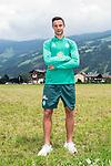 09.07.2019, DasPosthotel, Zell am Ziller, AUT, TL Werder Bremen Zell am Ziller / Zillertal Tag 05<br /> <br /> im Bild<br /> Marco Friedl (Werder Bremen #32) während MixedZone, <br /> <br /> Foto © nordphoto / Ewert