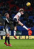 Bolton Wanderers' Luca Connell heads forward <br /> <br /> Photographer Andrew Kearns/CameraSport<br /> <br /> The EFL Sky Bet Championship - Bolton Wanderers v Reading - Tuesday 29th January 2019 - University of Bolton Stadium - Bolton<br /> <br /> World Copyright © 2019 CameraSport. All rights reserved. 43 Linden Ave. Countesthorpe. Leicester. England. LE8 5PG - Tel: +44 (0) 116 277 4147 - admin@camerasport.com - www.camerasport.com