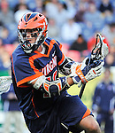 April 27, 2012:  #6 Virginia's Chris Bocklet (10), in action against Penn State during the Whitman's Sampler Mile High Classic, Sports Authority Field at Mile High, Denver, CO.  #6 Virginia defeats Penn State 10-8.