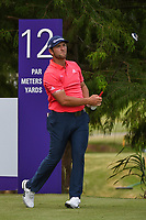 Jon Rahm (ESP) watches his tee shot on 12 during round 4 of the WGC FedEx St. Jude Invitational, TPC Southwind, Memphis, Tennessee, USA. 7/28/2019.<br /> Picture Ken Murray / Golffile.ie<br /> <br /> All photo usage must carry mandatory copyright credit (© Golffile | Ken Murray)