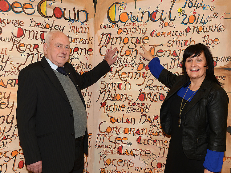 Former Councillors Tom and Dolores Minogue at the Ardee Town Council reunion for past members held in Ardee Castle. Photo:Colin Bell/pressphotos.ie