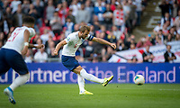 Harry Kane (Tottenham Hotspur) of England scores a second penalty during the UEFA 2020 Euro Qualifier match between England and Bulgaria at Wembley Stadium, London, England on 7 September 2019. Photo by Andy Rowland.
