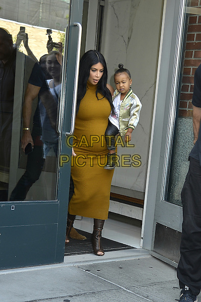 NEW YORK, NY - SEPTEMBER 9: Kim kardashian, north west seen in New York City on September 9, 2015. <br /> CAP/MPI67<br /> &copy;MPI67/Capital Pictures