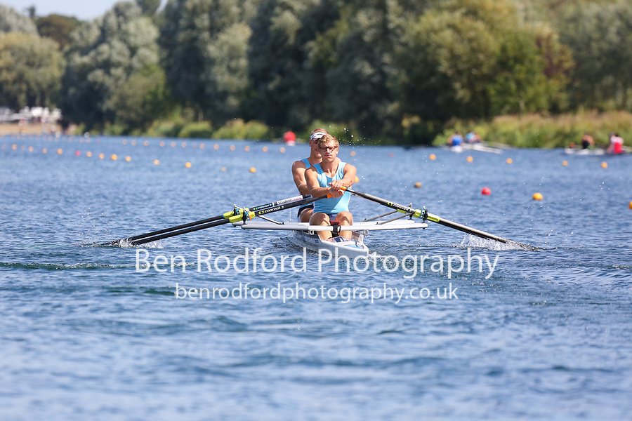 Race: 53  2x (Band 1)  Heat 1<br /> <br /> Peterborough Summer Regatta 2018 - Saturday<br /> <br /> To purchase this photo, or to see pricing information for Prints and Downloads, click the blue 'Add to Cart' button at the top-right of the page.