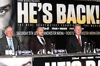 Tyson Fury (C) during a Press Conference at the Four Seasons Hotel on 12th April 2018
