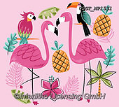 Lamont, GIFT WRAPS, GESCHENKPAPIER, PAPEL DE REGALO, paintings+++++,USGTMP1531,#gp#, EVERYDAY ,notebook,notebooks ,flamingo,flamingos