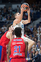 Real Madrid Jaycee Carroll and CSKA Moscu Nando de Colo and Will Clyburn during Turkish Airlines Euroleague match between Real Madrid and CSKA Moscu at Wizink Center in Madrid, Spain. October 19, 2017. (ALTERPHOTOS/Borja B.Hojas) /NortePhoto.com