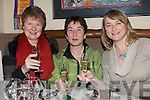 Helen Rohan, Doreen Lynch and Mairead Esmond seeing in the New Year in the Bianconi restaurant Killorglin