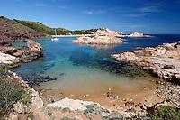 Spain, Menorca, near Fornells: Cala Pregondó and Cala Pregonda, North Coast | Spanien, Menorca, bei Fornells: Cala Pregondó und Cala Pregonda an der Nordkueste
