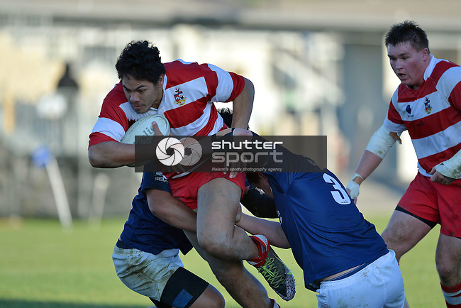 NELSON, NEW ZEALAND - JULY 4: Division 1 Club Rugby Nelson v WOB at Trafalgar Park on July 4 2015, Nelson, New Zealand. (Photo by Barry Whitnall/Shuttersport Limited)