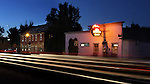 The French Bar and the old French Hotel are seen at dusk Aug. 18, 2010, in Gardnerville, Nev. Photo by Cathleen Allison.
