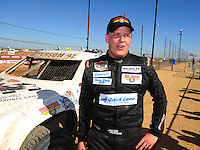 Apr 16, 2011; Surprise, AZ USA; LOORRS driver Jacob Person (92) after winning round 3 at Speedworld Off Road Park. Mandatory Credit: Mark J. Rebilas-.