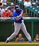 14 September 2008: Kansas City Royals' infielder Alberto Callaspo in action against the Cleveland Indians at Progressive Field in Cleveland, Ohio. The Royal defeated the Indians 13-3 to take the 4-game series three games to one...Mandatory Photo Credit: Ed Wolfstein Photo