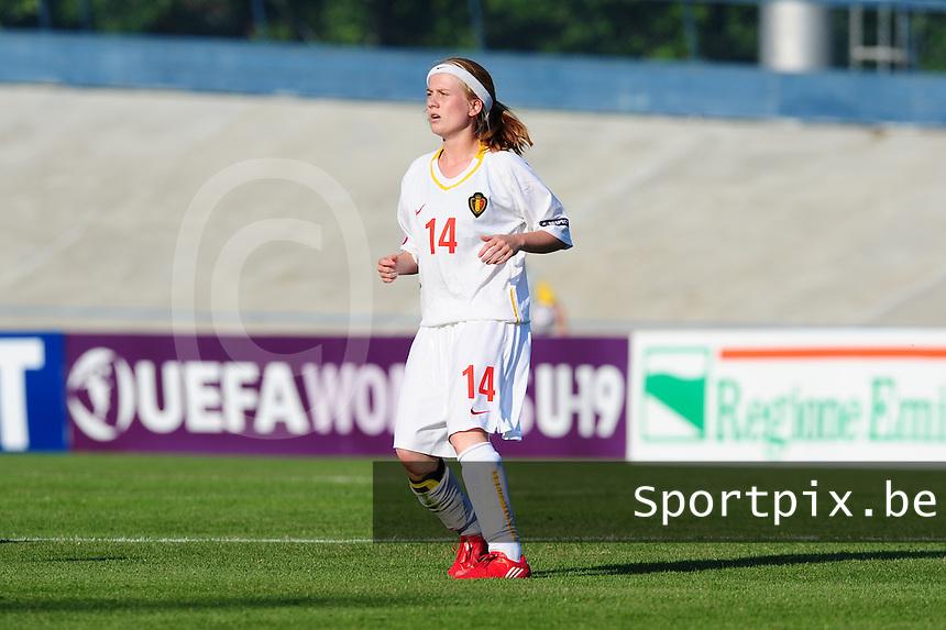 European Women's Under - 19 Championship 2011 Italy : Russia - Belgium U19 : Silke Demeyere.foto DAVID CATRY / VROUWENTEAM.BE