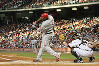 Philadelphia Phillies 1B Ryan Howard on Friday May 23rd at Minute Maid Park in Houston, Texas. Photo by Andrew Woolley / Four Seam Images..
