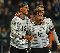 celebrate the goal, Torjubel zum 2:1 Leon Goretzka (Deutschland, Germany) mit Joshua Kimmich (Deutschland Germany) - 19.11.2019: Deutschland vs. Nordirland, Commerzbank Arena Frankfurt, EM-Qualifikation DISCLAIMER: DFB regulations prohibit any use of photographs as image sequences and/or quasi-video.