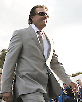 27 SEP 12  The always dashing Phil Mickelson during Thursdays Opening ceremonies at The 39th Ryder Cup at The Medinah Country Club in Medinah, Illinois.
