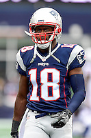 Sunday, October 2, 2016: New England Patriots wide receiver Matthew Slater (18) prepares for the NFL game between the Buffalo Bills and the New England Patriots held at Gillette Stadium in Foxborough Massachusetts. Buffalo defeats New England 16-0. Eric Canha/Cal Sport Media