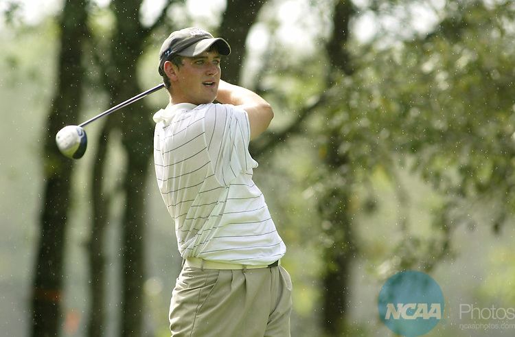 15 MAY 2004:  James McGhee of the University of South Carolina-Aiken hits a tee shot during the final round of the Men's Division II Golf Championship held at Victoria Hills Golf Course in Deland, Florida.  The University of South Carolina-Aiken  won the team national title.  Chris Livingston/NCAA Photos