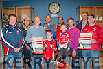 Walkers<br /> ----------<br /> St Pat's GAA club,Blennerville launched their up coming Dingle Way Challenge,in Benners hotel,Tralee last Friday evening,present were L-R Joe Costello,Mary Wallace,Alan O'Sullivan,James Costello,Sean Crowley,Kieran O'Shea(Club Sponsor)Darragh&amp;Seamus Murphy,James Sayers&amp;Raphael Crowley.The event takes place on May 31st next.