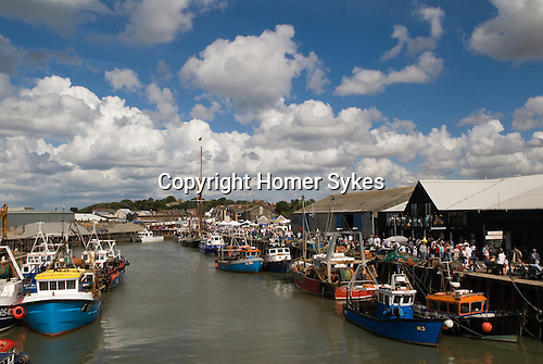 Whitstable Oyster Festival, Kent England 2007. The harbour.