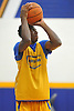Hofstra University incoming freshman Justin Wright-Foreman shoots a jumper during an informal men's basketball team workout at the team's practice facility on Wednesday, July 22, 2015.<br /> <br /> James Escher
