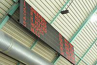 SCHAATSEN: HEERENVEEN: 25-10-2013, IJsstadion Thialf, NK afstanden, scorebord, uitslag 500m mannen, ©foto Martin de Jong