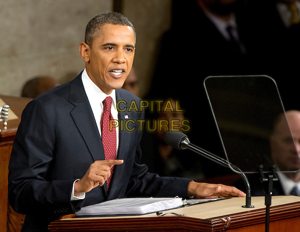 United States President Barack Obama delivers his State of the Union Address to a Joint Session of Congress in the U.S. Capitol in Washington, D.C., Tuesday, January 24, 2012. .CAP/ADM.©Ron Sachs/CNP/AdMedia/Capital Pictures.