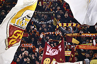 12th January 2020; Stadio Olympico, Rome, Italy; Italian Serie A Football, Roma versus Juventus; supporters of AS Roma display their flags
