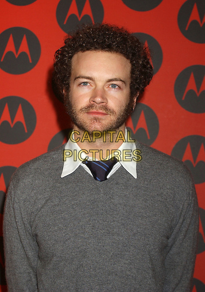 DANNY MASTERSON.Motorola's 6th Anniversary Holiday Party held at Music Box Theatre.  .December 2nd, 2004.Photo Credit: Laura Farr/AdMedia.headshot, portrait beard facial hair stubble grey gray sweater.www.capitalpictures.com.sales@capitalpictures.com.© Capital Pictures.