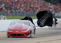 May 20, 2017; Topeka, KS, USA; NHRA pro stock driver Bo Butner during qualifying for the Heartland Nationals at Heartland Park Topeka. Mandatory Credit: Mark J. Rebilas-USA TODAY Sports