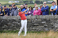 Mike Lorenzo-Vera (FRA) has to drop a shot up against the wall on the 17th hole during Saturday's Round 3 of the Dubai Duty Free Irish Open 2019, held at Lahinch Golf Club, Lahinch, Ireland. 6th July 2019.<br /> Picture: Eoin Clarke | Golffile<br /> <br /> <br /> All photos usage must carry mandatory copyright credit (© Golffile | Eoin Clarke)