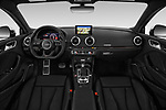 Stock photo of straight dashboard view of 2018 Audi RS-3 4WD 4 Door Sedan Dashboard