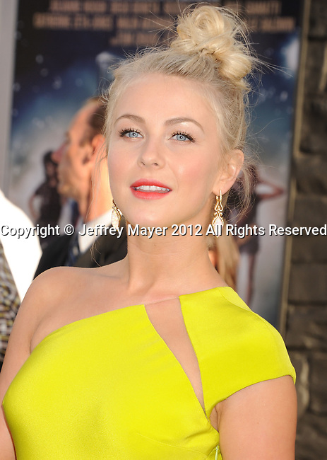 HOLLYWOOD, CA - JUNE 08: Julianne Hough arrives at the 'Rock Of Ages' - Los Angeles Premiere at Grauman's Chinese Theatre on June 8, 2012 in Hollywood, California.