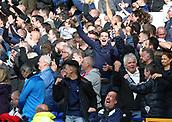 9th September 2017, Goodison Park, Liverpool, England; EPL Premier League Football, Everton versus Tottenham; Jubilant Tottenham fans celebrate as their team lead 0-3