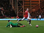 Preston's Thorsten Stuckmann brings down Manchester United's Wayne Rooney for a penalty <br /> <br /> FA Cup - Preston North End vs Manchester United  - Deepdale - England - 16th February 2015 - Picture David Klein/Sportimage