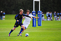 Action from the 2017 Rex Dawkins secondary schools tournament match between Christchurch Boys' High School and Trident High School at Massey University in Palmerston North, New Zealand on Friday, 8 September 2017. Photo: Dave Lintott / lintottphoto.co.nz