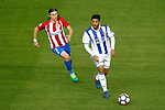 Atletico de Madrid's Filipe Luis (l) and Real Sociedad's Carlos Vela during La Liga match. April 4,2017. (ALTERPHOTOS/Acero)