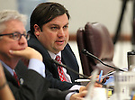 Nevada Assemblyman James Ohrenschall, D-Las Vegas, works in committee at the Legislative Building in Carson City, Nev., on Wednesday, May 20, 2015. <br /> Photo by Cathleen Allison