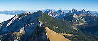 View from Aggenstein (1987m) towards Tannheimer Gruppe (Austria), Allgäu, Bavaria, Germany