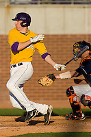 John Wooten #16 of the East Carolina Pirates follows through on his swing versus the Virginia Cavaliers at Clark-LeClair Stadium on February 20, 2010 in Greenville, North Carolina.   Photo by Brian Westerholt / Four Seam Images