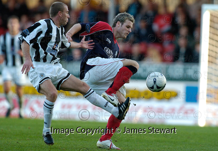 14/10/2006       Copyright Pic: James Stewart.File Name :jspa15_falkirk_v_st_mirren.ANTHONY STOKES HOLDS OFF GARRY BRADY ....Payments to :.James Stewart Photo Agency 19 Carronlea Drive, Falkirk. FK2 8DN      Vat Reg No. 607 6932 25.Office     : +44 (0)1324 570906     .Mobile   : +44 (0)7721 416997.Fax         : +44 (0)1324 570906.E-mail  :  jim@jspa.co.uk.If you require further information then contact Jim Stewart on any of the numbers above.........