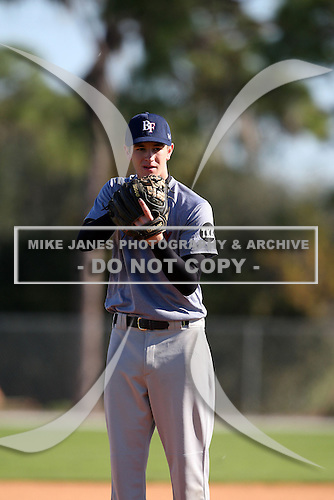 December 28, 2009:  Kevin Clifford (3) of the Baseball Factory Anteaters team during the Pirate City Baseball Camp & Tournament at Pirate City in Bradenton, Florida.  (Copyright Mike Janes Photography)