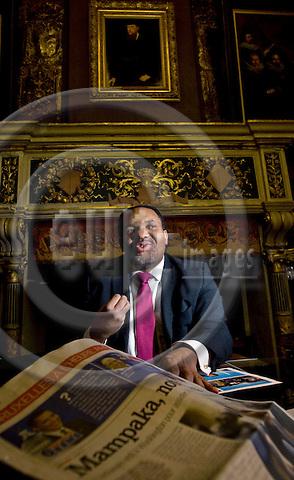 BRUSSELS - BELGIUM - 03 FEBRUARY 2009 --  Bertin MAMPAKA MANKAMBA, Congolese born Member of the Brussels City Parliament. -- PHOTO: Juha ROININEN / EUP-IMAGES