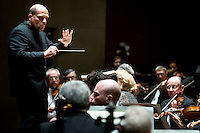 Dallas Symphony Orchestra Conductor Jaap van Zweden (cq) leads a performance of Requiem by Verdi at the Eugene McDermott Concert Hall in the Meyerson Symphony Center in Dallas, Texas, at 8:11PM Wednesday, April 24, 2008. The performance included a full orchestra and also included the Dallas Symphony Chorus..PHOTO/ MATT NAGER