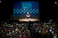 Roma, 22 Febbraio, 2013. Pier Luigi Bersani, alla chiusura della campagna elettorale al Teatro Jovinelli.
