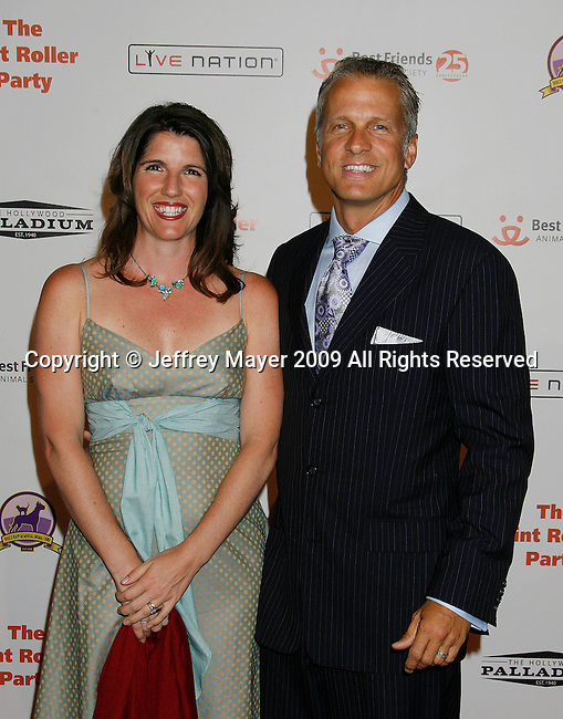 HOLLYWOOD, CA. - October 03: Patrick Fabian and wife arrive at the Best Friends Animal Society's 2009 Lint Roller Party at the Hollywood Palladium on October 3, 2009 in Hollywood, California.